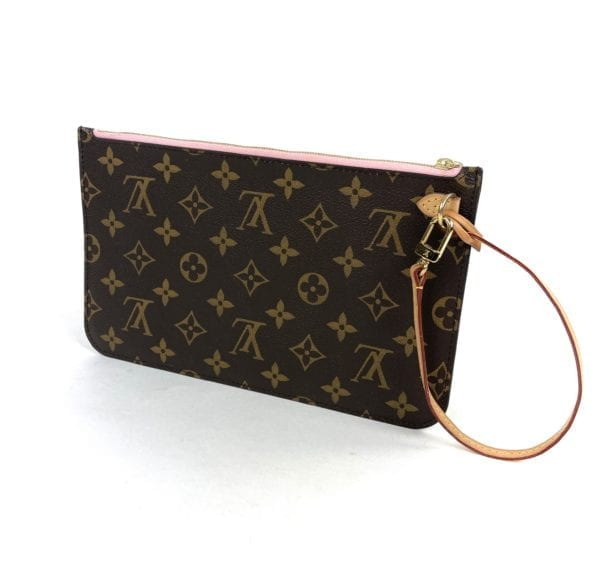 Louis Vuitton Monogram Neverfull Pochette Rose Ballerine