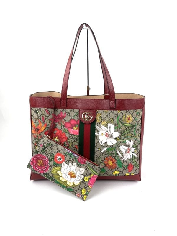 Gucci Ophidia GG Flora Tote Bag