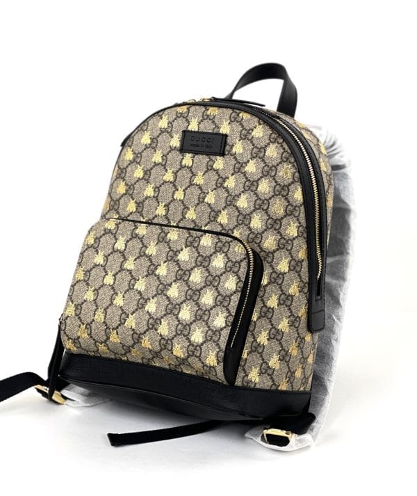 Gucci Bee GG Supreme Canvas Backpack