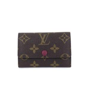 Louis Vuitton Monogram 6 Key Holder Fuchsia