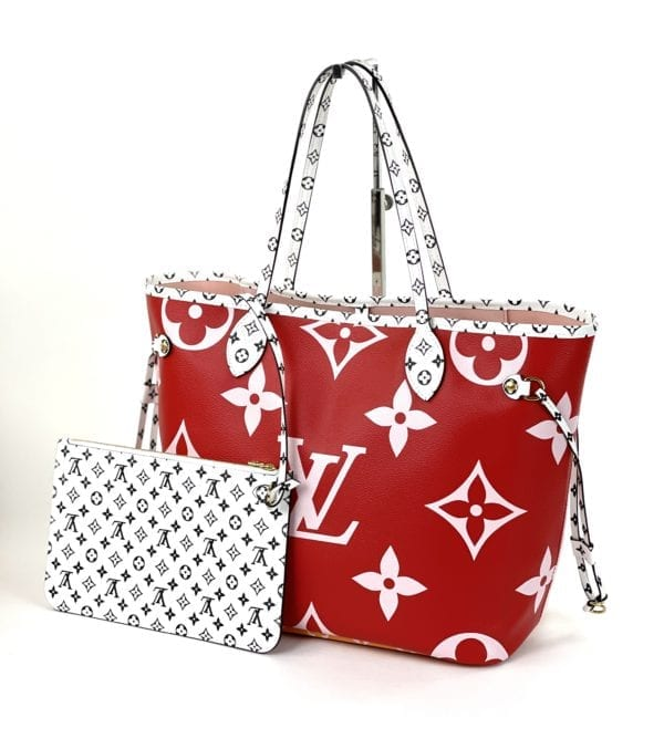Louis Vuitton Monogram Giant Neverfull MM Red/Pink