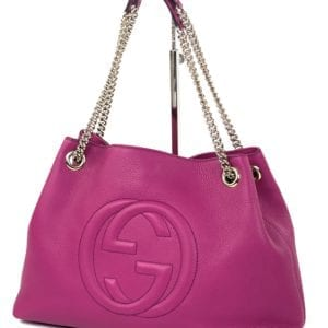 Gucci Soho Medium Leather Shoulder Bag Magenta