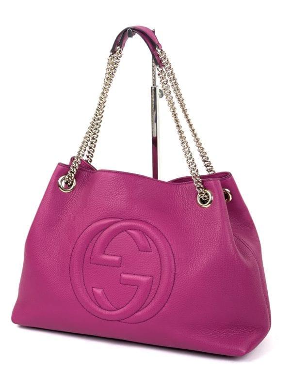 Gucci Soho Medium Leather Shoulder Bag Magenta