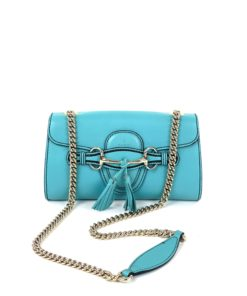 Gucci Turquoise Leather Small Emily Shoulder Bag