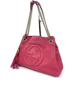 Gucci Soho Medium Leather Shoulder Bag Watermelon