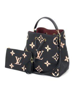 Louis Vuitton Bicolor Monogram Empreinte Leather Black NéoNoé MM