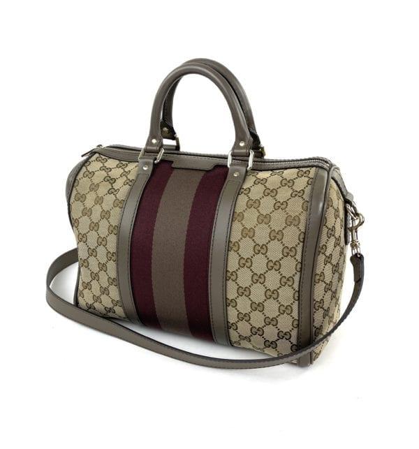 Gucci GG Boston Bag Taupe/Berry