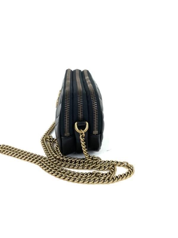 Gucci Super Mini Marmont Matelassé Black Crossbody