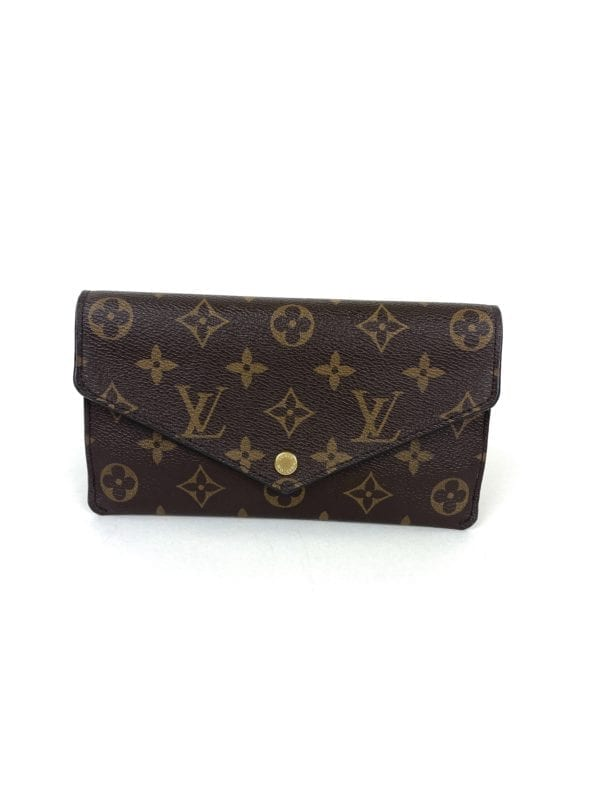 Louis Vuitton Jeanne Monogram Wallet with Berry Leather
