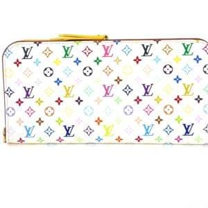 Louis Vuitton Monogram Multicolor White Insolite Wallet