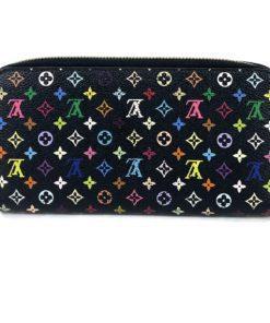Louis Vuitton Monogram Multicolor Black Zippy Wallet