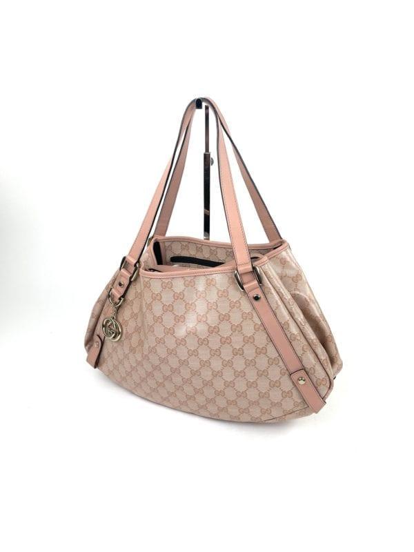 Gucci GG Pink Crystal Abbey Medium Tote Bag