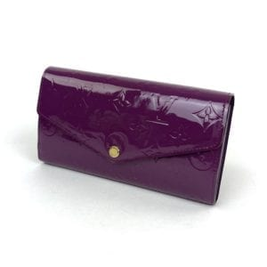 Louis Vuitton Monogram Vernis Leather Sarah Wallet