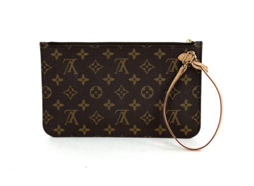 Louis Vuitton Monogram Neverfull Pochette Tan