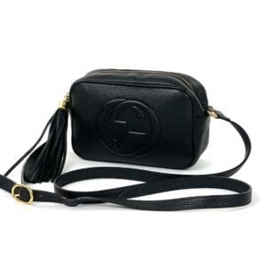 Gucci Mini Soho Leather Disco Bag Black