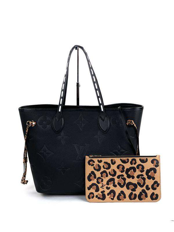 Louis Vuitton Neverfull MM Wild at Heart Monogram Empreinte Leather