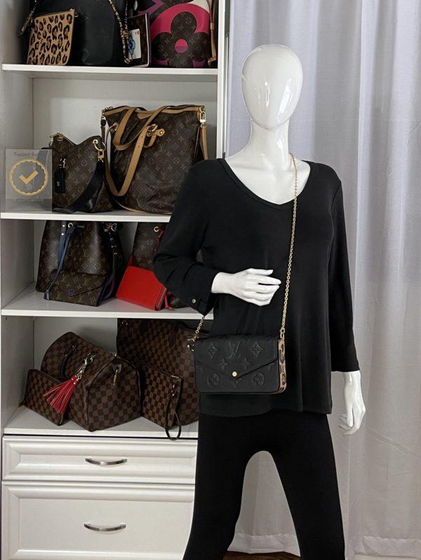Louis Vuitton Empreinte Monogram Wild at Heart Felicie Pochette model