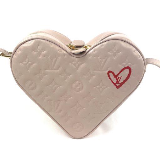 Louis Vuitton Lambskin Embossed Monogram Fall In Love Sac Coeur Light Pink