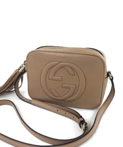 Soho Small Rose Beige Leather Disco Bag