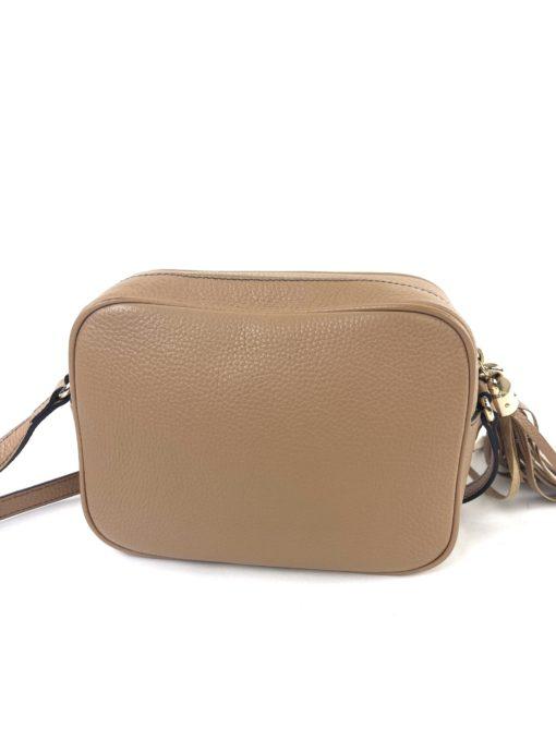 Soho Small Rose Beige Leather Disco Bag back