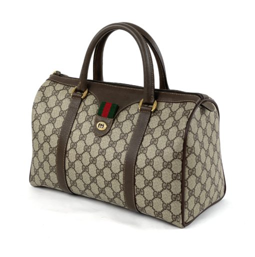 Vintage Gucci GG Tan Coated Canvas Satchel